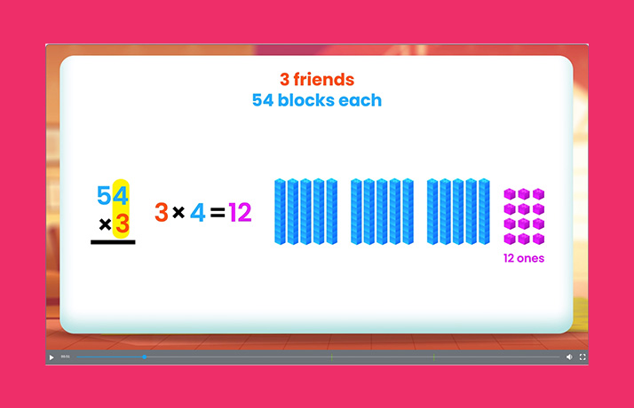 Maths Problem stating 3 friends and 54 block each
