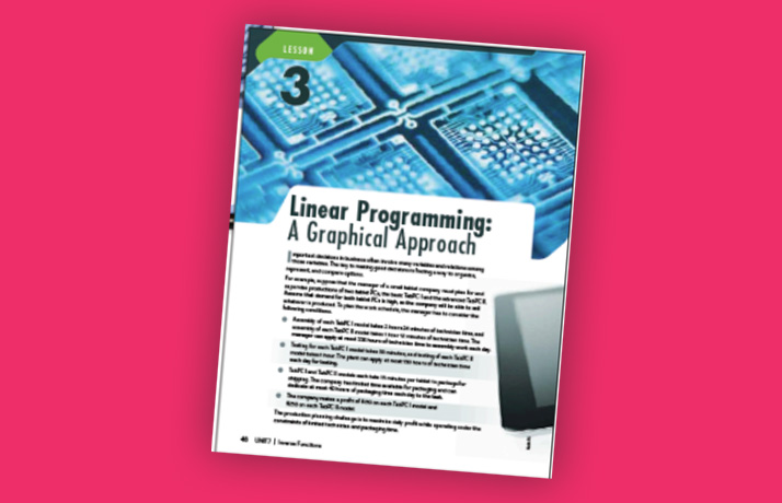 Linear Programming: A Graphical Approach Book Photo